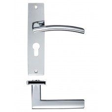 Amalfi Euro Lock Door Handle 43 x 180mm CP