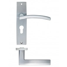 Amalfi Euro Lock Door Handle 43 x 180mm SC