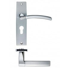 Amalfi Euro Lock Door Handle 43 x 180mm SCCP