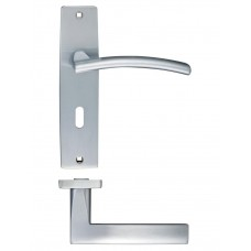 Amalfi Lock Door Handle 43 x 180mm SC
