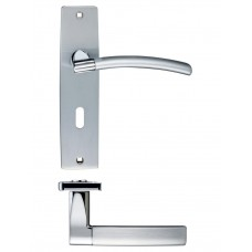 Amalfi Lock Door Handle 43 x 180mm SCCP