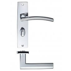 Amalfi Bathroom Door Handle 43 x 180mm CP