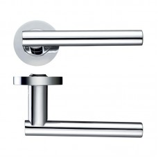 Lucca Door Handle Screw on Rose CP