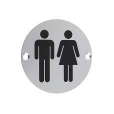 Unisex Sex Door Sign 76mm Dia. SA