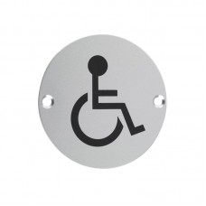 Disabled Facilities Door Sign 76mm Dia. SA
