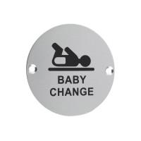 Baby Change Door Sign 76mm Dia. SA