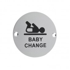 Zoo Hardware - Baby Change Door Sign 76mm Dia. SA - ZSA08SA