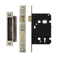 3L Sash Door Lock 64mm Case 44.5mm Bkst FB