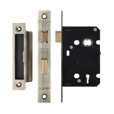 Zoo Hardware - 3L Sash Door Lock 64mm Case 44.5mm Bkst FB - ZSC364FB
