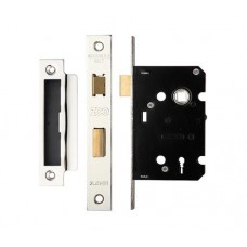 Zoo Hardware - 3L Sash Door Lock 64mm Case 44.5mm Bkst KA NP - ZSC364NPKA
