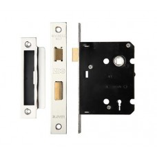 Zoo Hardware - 3L Sash Door Lock 76mm Case 57mm Bkst NP - ZSC376NP