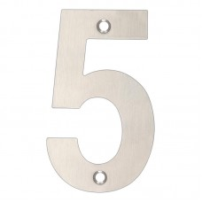 Zoo Hardware - House Door Numeral '5' 102mm Satin Stainless ZSN05BSS