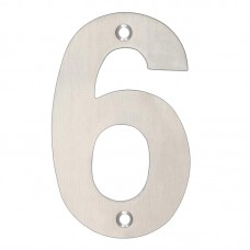 Zoo Hardware - House Door Numeral '6 & 9' 102mm Satin Stainless ZSN06BSS