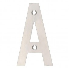 "Zoo Hardware - Door Letter - ""A"" 102mm SS - ZSNASS"