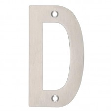 "Zoo Hardware - Door Letter - ""D"" 102mm SS - ZSNDSS"