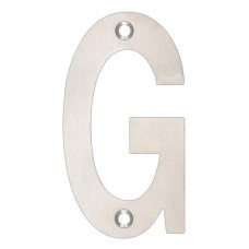 "Zoo Hardware - Door Letter - ""G"" 102mm SS - ZSNGSS"