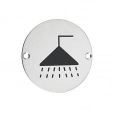 Zoo Hardware - Shower Door Sign 76mm Dia. PS - ZSS04PS