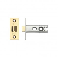 "Bolt Through Tubular Door Latch 2.5"" 44.5mm Bkst PVD Gold"