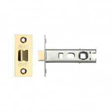 "Bolt Through Tubular Door Latch 3"" 57mm Bkst PVD Gold"