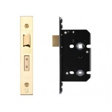 Bathroom Door Lock 67.5mm w/ Forend & Strike 44.5mm Bkst PVD