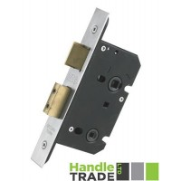 Bathroom Door Lock 67.5mm w/ Forend & Strike 44.5mm Bkst SS