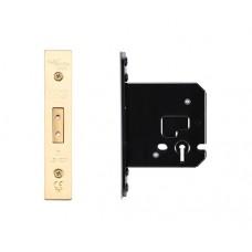 Zoo Hardware - Dead Door Lock 3L - 79.5mm 57mm Bkst PVD - ZUKD376PVD