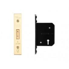 Zoo Hardware - 5L Door Dead Lock 67.5mm w/ Forend & Strike 44.5mm Bkst PVD - ZUKD564PVD