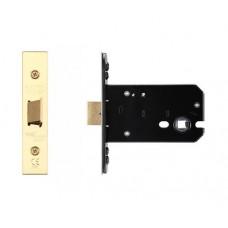 "Flat Door Latch 105.5mm 4"" Forend & Strike 82mm Bkst PVD"