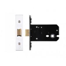 """Flat Door Latch 105.5mm 4"""" Forend & Strike 82mm Bkst SS"""