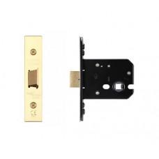 "Zoo Hardware - Flat Door Latch 79.5mm 3"" Forend & Strike 57mm Bkst PVD - ZUKF76PVD"