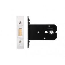 """Zoo Hardware - Flat Dead Door Lock 105.5mm 4"""" Forend & Strike 82mm Bkst SS - ZUKFD102SS"""