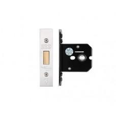 """Zoo Hardware - Flat Dead Door Lock 67.5mm 2.5"""" Forend & Strike 44.5mm Bkst SS - ZUKFD64SS"""