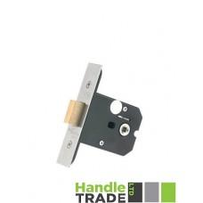 """Zoo Hardware - Flat Dead Door Lock 79.5mm 3"""" Forend & Strike 57mm Bkst SS - ZUKFD76SS"""