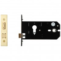"Euro Door Lock 152mm 6"" Forend & Strike 127mm Bkst PVD"