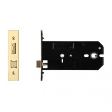 Bathroom Door Lock 152mm Forend & Strike 127mm Bkst PVD Gold