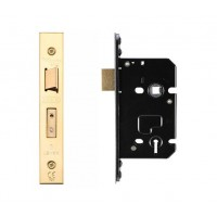 3L Sash Door Lock 67.5mm w/ Forend & Strike 44.5mm Bkst PVD