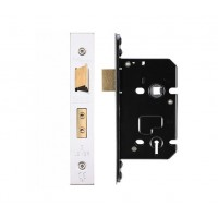 3L Sash Door Lock 64mm w/ Forend & Strike 44.5mm Bkst KA SS