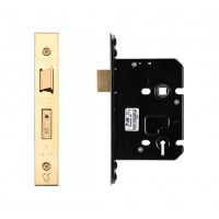 3L Sash Door Lock 79.5mm w/ Forend & Strike 57mm Bkst PVD