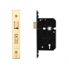 Zoo Hardware - 5L Door Sash Lock 64mm w/ Forend & Strike 44.5mm Bkst PVD - ZUKS564PVD