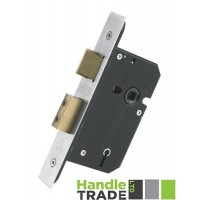 5L Door Sash Lock 67.5mm w/ Forend & Strike 44.5mm Bkst SS