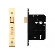 Zoo Hardware - 5L Door Sash Lock 79.5mm w/ Forend & Strike 57mm Bkst KA PVD - ZUKS576PVDKA