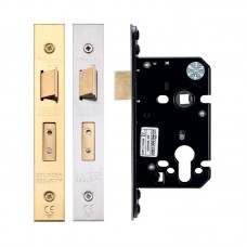 "Euro Sash Door Lock 2.5"" or 3"" Finish Option"