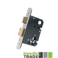 "Euro Sash Door Lock 79.5mm 3"" Forend & Strike 57mm Bkst SS"