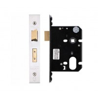 "Oval Sash Door Lock 79.5mm 3"" Forend & Strike 57mm Bkst SS"