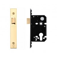 "Upright Door Latch 67.5mm 2.5"" Forend & Strike 44.5mm Bkst PVD"