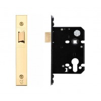"Upright Door Latch 79.5mm 3"" Forend & Strike 57mm Bkst PVD"