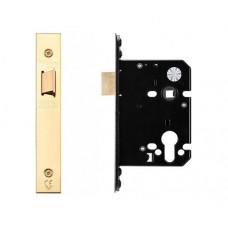 "Zoo Hardware - Upright Door Latch 79.5mm 3"" Forend & Strike 57mm Bkst PVD - ZUKU76PVD"