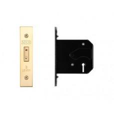 Zoo Hardware - 3L UK Door Replacement Dead Lock 76mm 57mm Bkst PVD - ZURD376PVD