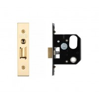 3L UK Door Replacement Night Latch 64mm 44.5mm Bkst PVD
