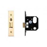 3L UK Door Replacement Night Latch 64mm 44.5mm Bkst PVD
